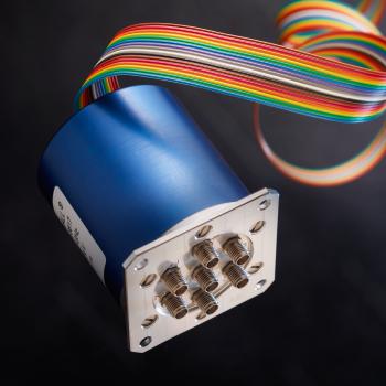 DPDT Titanium SMA 20GHz Latching Self-cut-off Indicators 24Vdc TTL Positive common Diodes HE10 receptacle without bracket