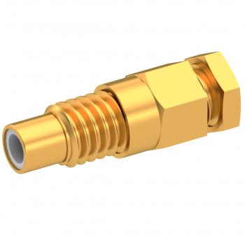SMC / STRAIGHT JACK MALE SOLDER CLAMP FOR FOR .141''/50 SR GOLD
