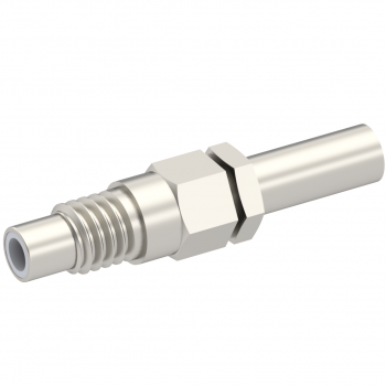 SMC / STRAIGHT JACK MALE CRIMP TYPE FOR 2/50 D CABLE NICKEL