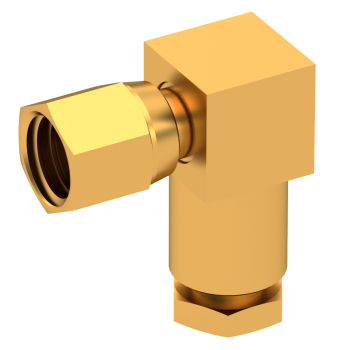SMC / RIGHT ANGLE PLUG FEMALE CLAMP TYPE FOR 2.6/50 S CABLE GOLD