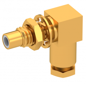 SMC / RIGHT ANGLE JACK MALE CLAMP TYPE FOR 2/50 D CABLE GOLD