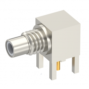 SMC / RIGHT ANGLE JACK RECEPTACLE MALE NICKEL