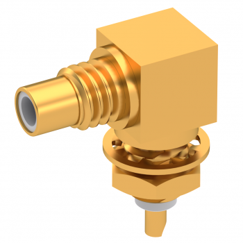 SMC / RIGHT ANGLE JACK RECEPTACLE MALE GOLD FRONT MOUNT