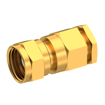 75 OHM / STRAIGHT PLUG FEMALE CLAMP TYPE FOR 3.8/95 S GOLD