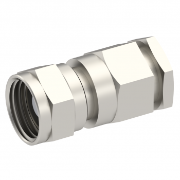 75 OHM / STRAIGHT PLUG FEMALE CLAMP TYPE FOR 3.8/95 S NICKEL