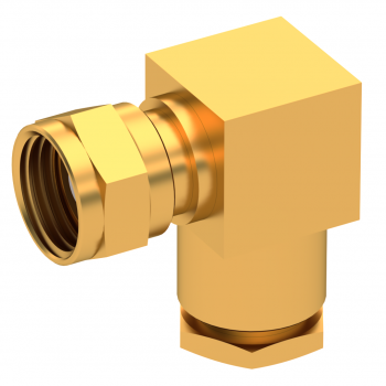 75 OHM / RIGHT ANGLE PLUG FEMALE CLAMP TYPE FOR 2.6/75 S GOLD