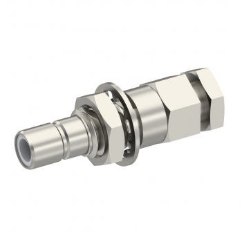 SMB / STRAIGHT JACK MALE SOLDER CLAMP FOR .141''/50 SR NICKEL