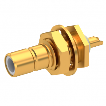 SMB / STRAIGHT JACK RECEPTACLE MALE GOLD REAR MOUNT