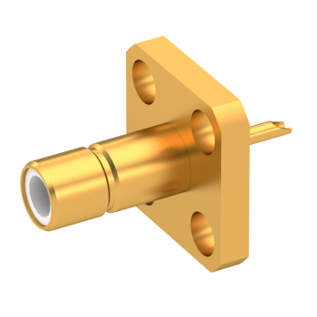 SMB / STRAIGHT JACK RECEPTACLE MALE GOLD
