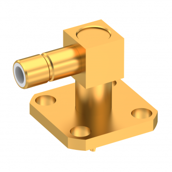 SMB / RIGHT ANGLE JACK RECEPTACLE MALE GOLD