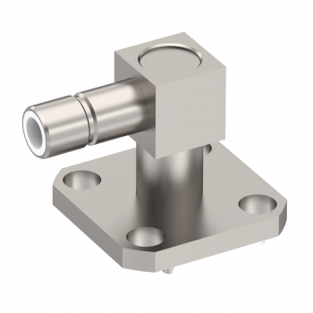 SMB / RIGHT ANGLE JACK RECEPTACLE MALE NICKEL