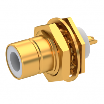 75 OHM  / STRAIGHT JACK RECEPTACLE MALE GOLD REAR MOUNT