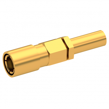 SLB / STRAIGHT PLUG FEMALE CRIMP TYPE FOR 2.6/50 D CABLE GOLD