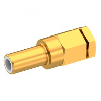 SLB / STRAIGHT JACK MALE SOLDER CLAMP FOR .141''/50 SR GOLD