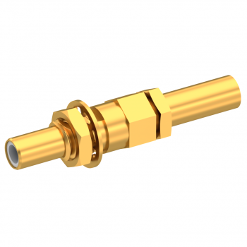 SLB / STRAIGHT JACK MALE CRIMP TYPE FOR 2.6/50 D CABLE GOLD