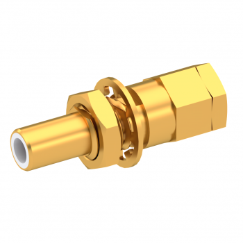 SLB / STRAIGHT JACK MALE CRIMP TYPE FOR 2.6/50 D CABLE GOLD FLOAT MOUNT/BLIND MATE