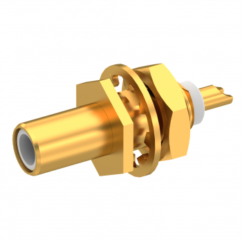 SLB / STRAIGHT JACK RECEPTACLE MALE GOLD FRONT MOUNT