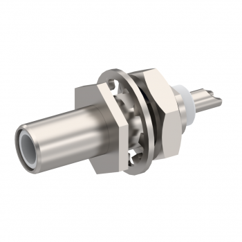 SLB / STRAIGHT JACK RECEPTACLE MALE NICKEL FRONT MOUNT