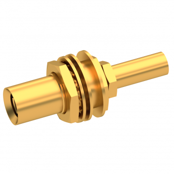 SLB / STRAIGHT PLUG FEMALE CRIMP TYPE FOR 2.6/50 D CABLE GOLD FLOAT MOUNT/BLIND MATE