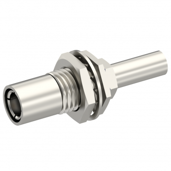 SLB / STRAIGHT PLUG FEMALE CRIMP TYPE FOR 2.6/50 D CABLE NICKEL