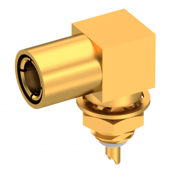 SLB / RIGHT ANGLE PLUG RECEPTACLE FEMALE GOLD FRONT MOUNT