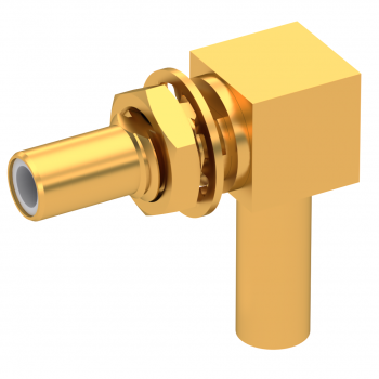 SLB / RIGHT ANGLE JACK MALE CRIMP TYPE FOR 2.6/50 D CABLE GOLD