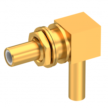 SLB / RIGHT ANGLE JACK MALE CRIMP TYPE FOR 2.6/50 D CABLE GOLD FLOAT MOUNT/BLIND MATE