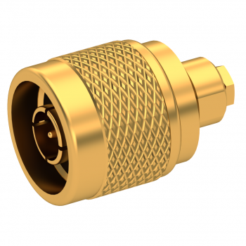 N / STRAIGHT PLUG MALE SOLDER CLAMP FOR .085''/50 SR GOLD