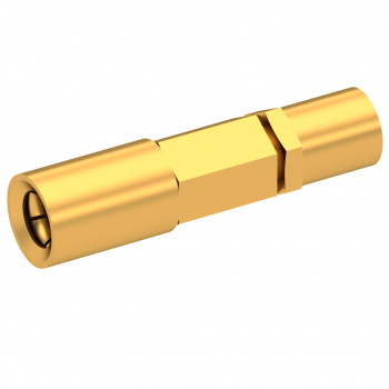 SSMB / STRAIGHT PLUG FEMALE CRIMP TYPE FOR 2.6/50 D CABLE GOLD