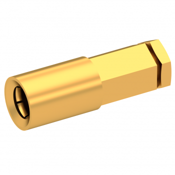 SSLB / STRAIGHT PLUG FEMALE SOLDER TYPE FOR .047''/50 SR GOLD