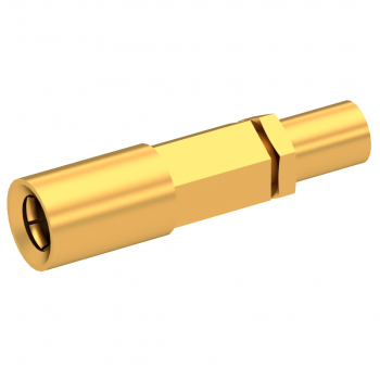 SSLB / STRAIGHT PLUG FEMALE CRIMP TYPE FOR 2.6/50 D CABLE GOLD