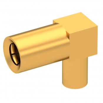 SSLB / RIGHT ANGLE PLUG FEMALE CRIMP TYPE FOR 2.6/50 D CABLE GOLD