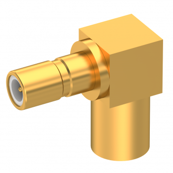 SSMB / RIGHT ANGLE JACK MALE SOLDER TYPE FOR 2.6/50 S CABLE GOLD