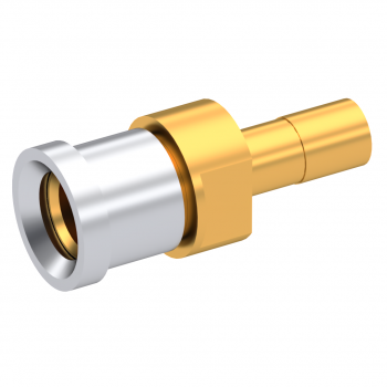 SMP / STRAIGHT JACK FEMALE  FOR .085''/50 SR CABLE GOLD SMOOTH BORE