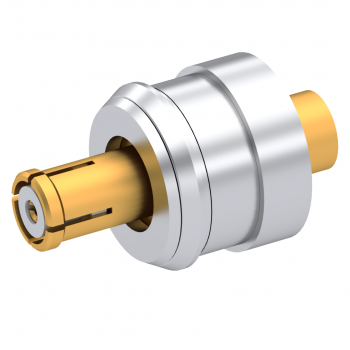 SMP / STRAIGHT SNAP-IN JACK FEMALE FOR .085''/50 SR CABLE GOLD  FLOAT MOUNT
