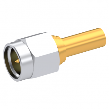 SMA / STRAIGHT PLUG MALE SOLDER TYPE FOR 2.6/50 D CABLE GOLD NON-CAPTIVE CONTACT