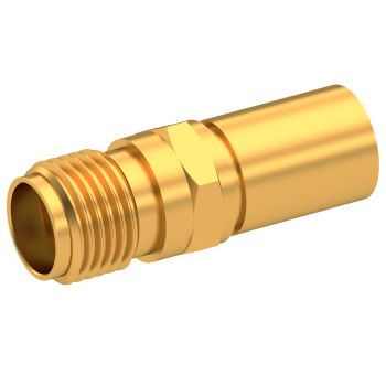SMA / STRAIGHT JACK FEMALE CRIMP TYPE FOR 5/50 S GOLD NON-CAPTIVE CONTACT