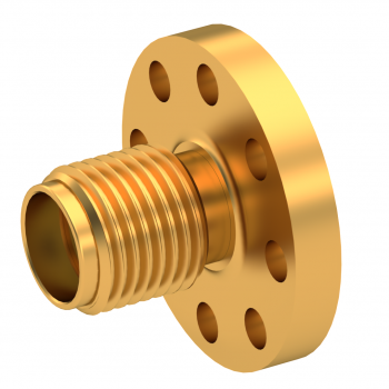 SMA / STRAIGHT JACK RECEPTACLE FEMALE GOLD NON-CAPTIVE CONTACT STANDARD FLANGE