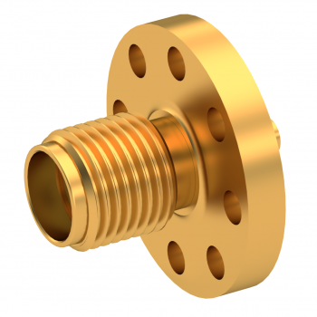SMA / STRAIGHT JACK RECEPTACLE FEMALE GOLD NON-CAPTIVE CONTACT|STANDARD FLANGE
