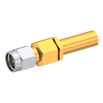 SMA / STRAIGHT PLUG MALE CRIMP TYPE FOR 2.6/50 S CABLE GOLD CAPTIVE CONTACT