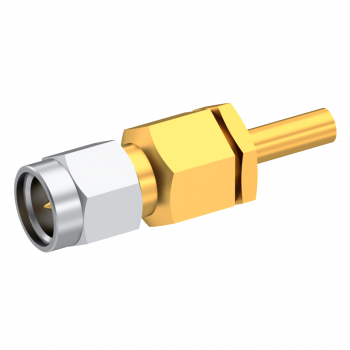 SMA / STRAIGHT PLUG MALE CRIMP TYPE FOR 2.6/50 D CABLE GOLD CAPTIVE CONTACT