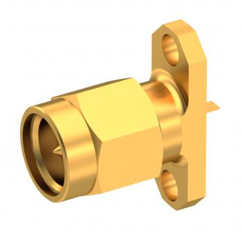 SMA / STRAIGHT PLUG RECEPTACLE MALE GOLD NON-CAPTIVE CONTACT
