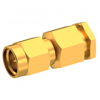 SMA / STRAIGHT PLUG MALE CLAMP TYPE FOR 2.6/50 S CABLE GOLD CAPTIVE CONTACT