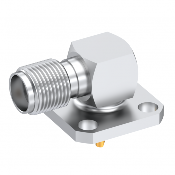 SMA / RIGHT ANGLE JACK RECEPTACLE FEMALE PASSIVATED LOW PROFILE