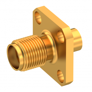 SMA / STRAIGHT JACK FEMALE SOLDER TYPE FOR .141''/50 SR GOLD NON-CAPTIVE CONTACT
