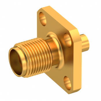 SMA / STRAIGHT JACK FEMALE SOLDER TYPE FOR .085''/50 SR GOLD CAPTIVE CONTACT FOR ONE STEP ASSEMBLY