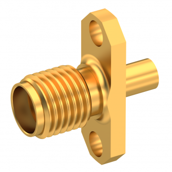 SMA / STRAIGHT JACK FEMALE SOLDER TYPE FOR .085''/50 SR GOLD NON-CAPTIVE CONTACT