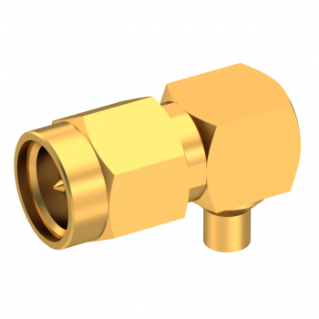 SMA / RIGHT ANGLE PLUG MALE SOLDER TYPE FOR .085''/50 SR GOLD