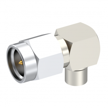 SMA / RIGHT ANGLE PLUG MALE SOLDER TYPE FOR .085''/50 SR NICKEL