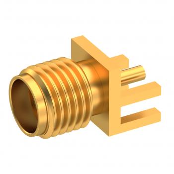 SMA / EDGE CARD JACK FEMALE GOLD FOR .062 PCB
